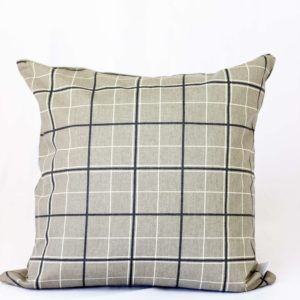 Beige Plaid Throw Pillow - The Nordic Design Company - beige down throw pillow