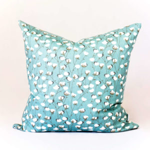 Blue Floral Throw Pillow - The Nordic Design Company - Blue Decorative Down Throw Pillow