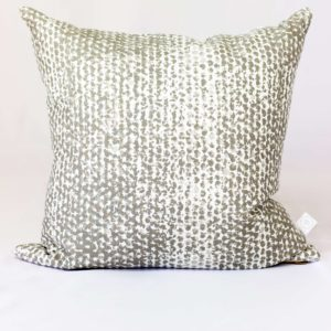 Stripes Pattern Throw Pillow - The Nordic Design Company - Gold and Off White Patterned Down Pillow