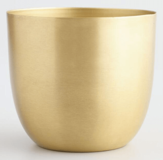 2019 decor trend - matte brass vase
