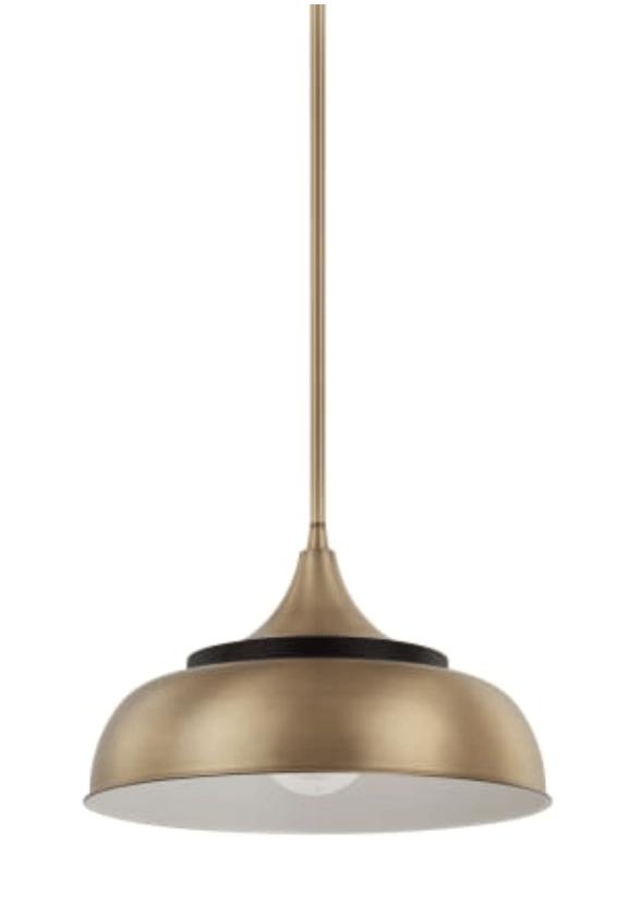 buttery brass hang lamp 2019 trend