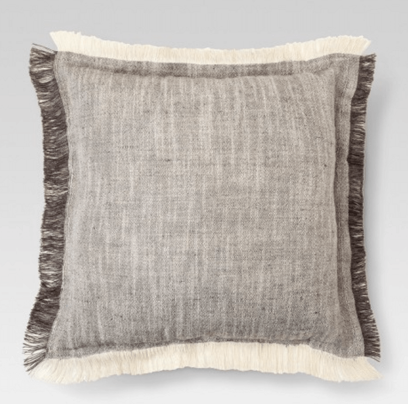 pillow with fringe seams - 2019 fringe decor trends