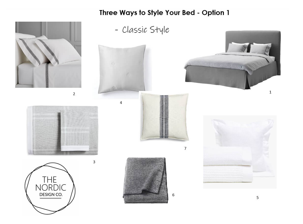 3 Ways to Style your Bed - Option 1 - Classic Style Bed Linens