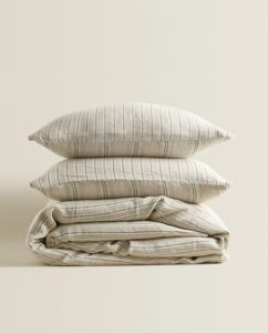 Zara bedding for holiday decor