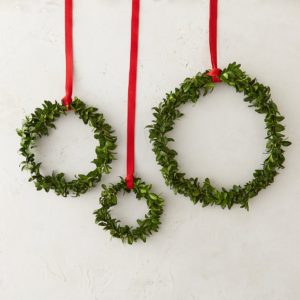 Holiday decor with greenery
