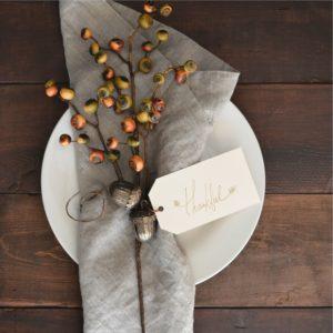 Holiday Decor for Thanksgiving dinner