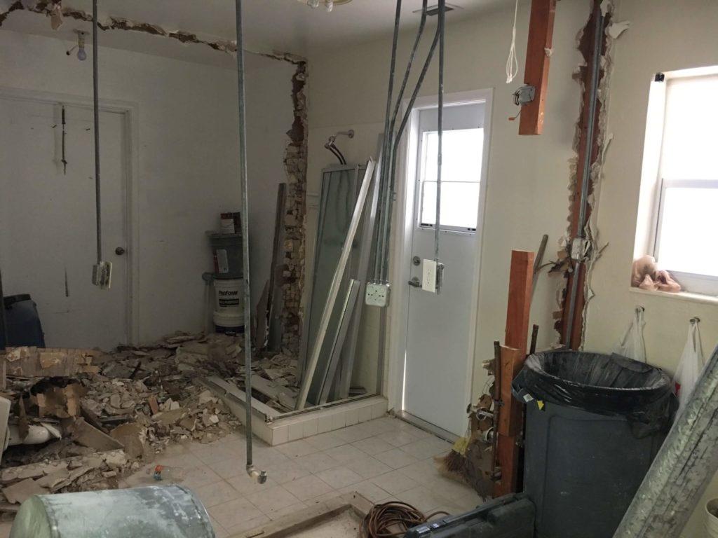 bathroom renovation project - before