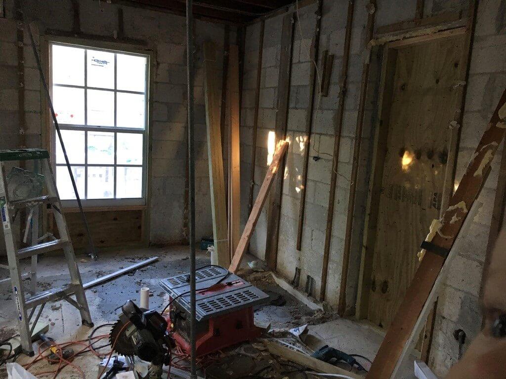 south florida bathroom renovation in progress