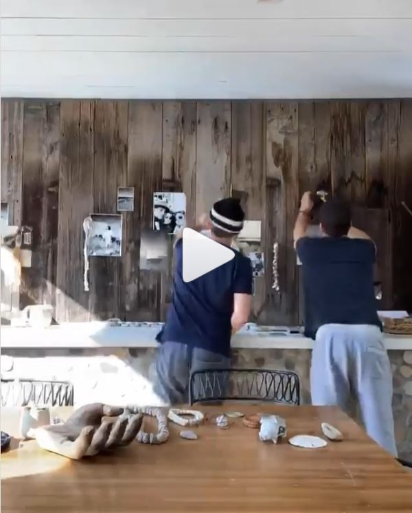 Jeremiah Brent Instagram post - collage wall video