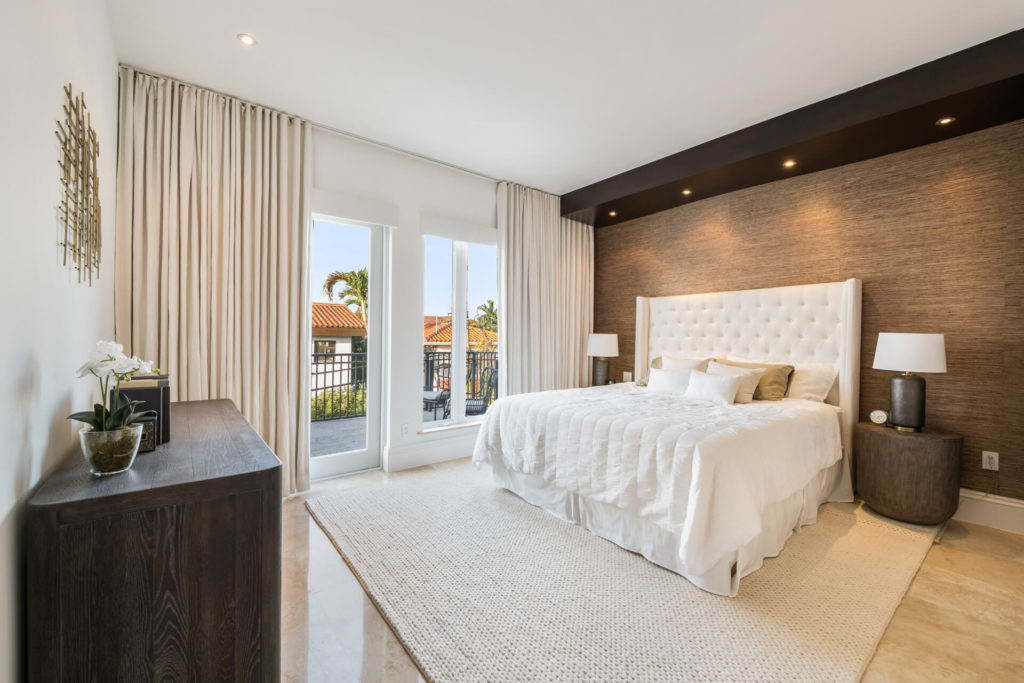 Master Bedroom Home Staging in Miami Florida