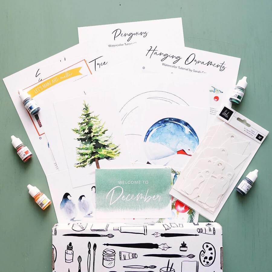 TNDC Holiday Gift Guide - Watercolor Subscription Box
